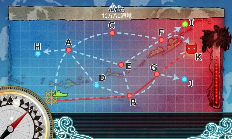 3-5北方AL海域下3戦ルート