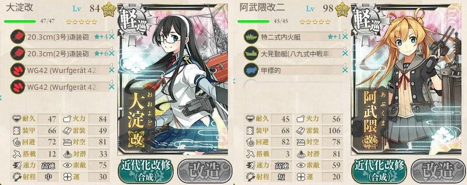 6-4軽巡装備例