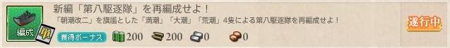 新編「第八駆逐隊」を再編成せよ!