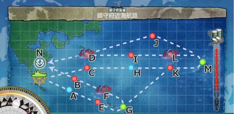 1-6 鎮守府近海航路 マップ