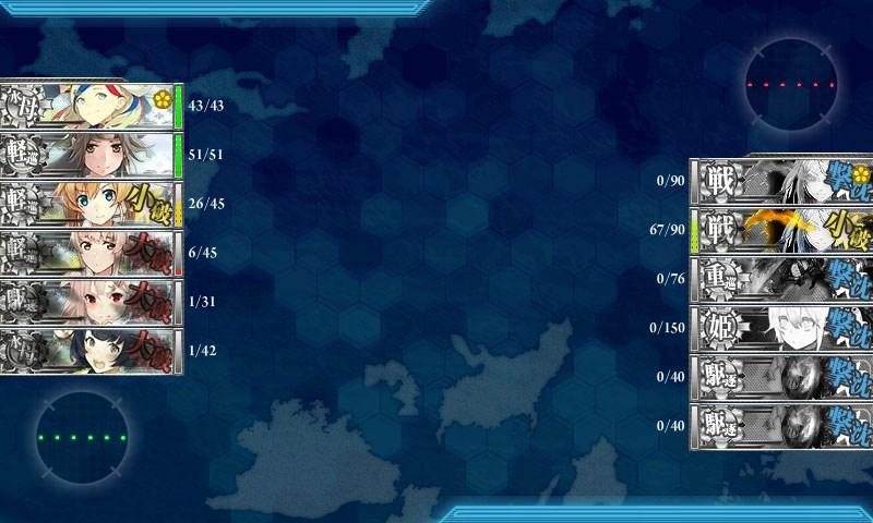 前線の航空偵察を実施せよ!夜戦A勝利確定