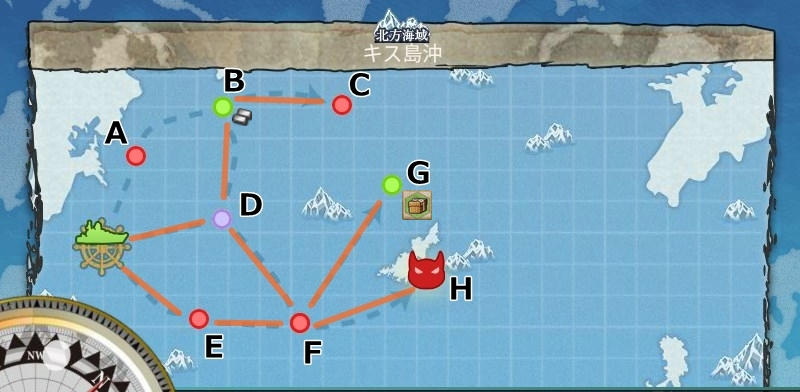3-2 キス島沖 キス島撤退作戦 マップ