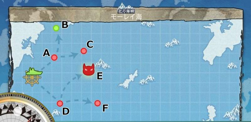 3-1 モーレイ海 モーレイ海哨戒 マップ
