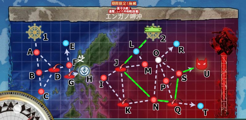 2018冬イベ E3 小沢機動部隊 全力出撃! エンガノ岬沖 マップ