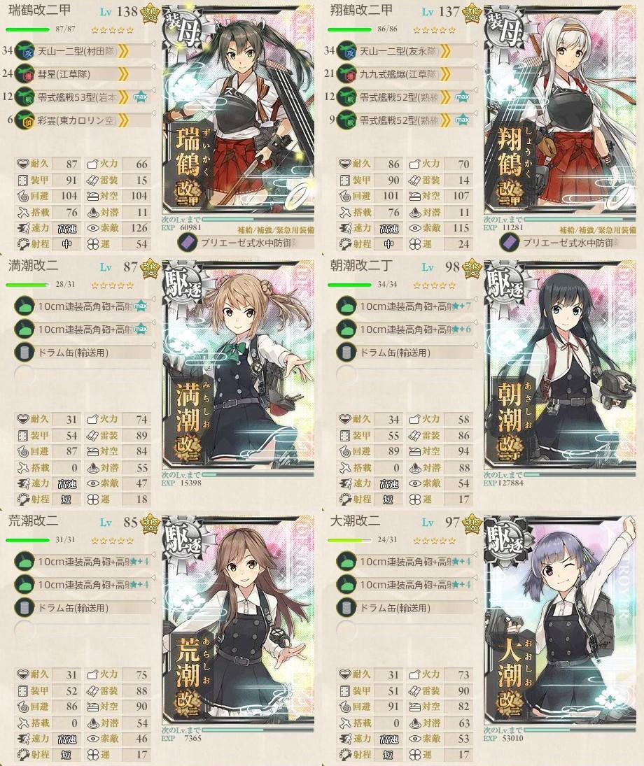 最精鋭「第八駆逐隊」、全力出撃! 5-4攻略編成