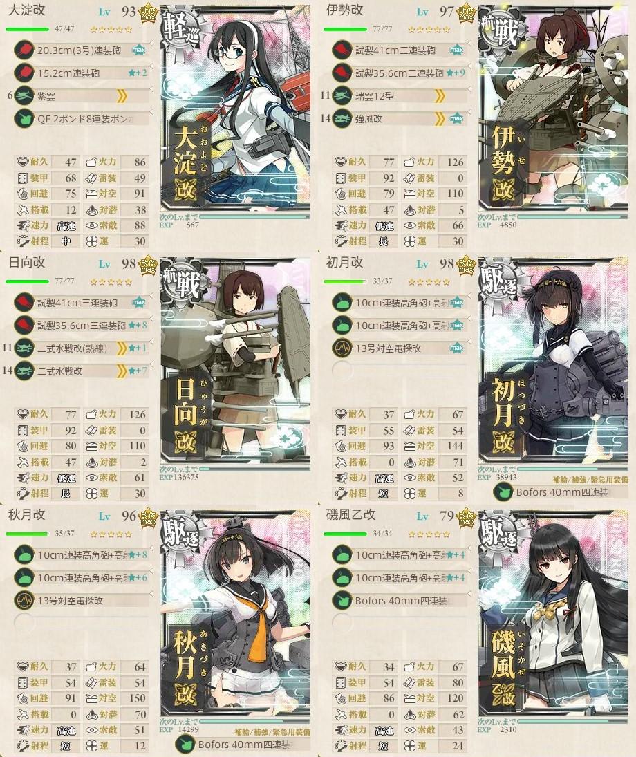 新編「四航戦」、全力出撃!1-6攻略編成