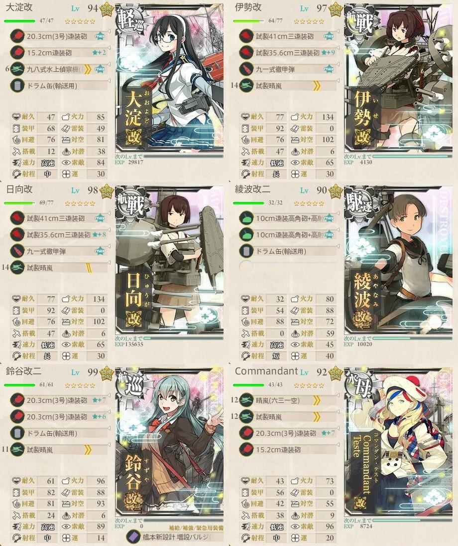 新編「四航戦」、全力出撃!2-5攻略編成