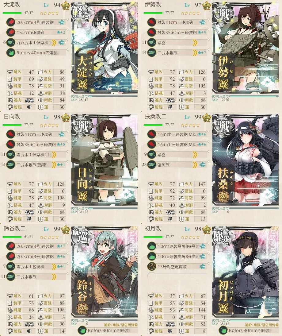 新編「四航戦」、全力出撃!3-5攻略編成